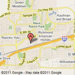 Click on the image to display a larger map to the Central Valley Regional Data Center